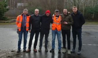 John Hind (Harworth Group), Stuart Ashton (Harworth Group), Chris Harris (Top Gear), Henry Gyselman (Lambert Smith Hampton), Paddy McGuinness (Top Gear), Freddie Flintoff (Top Gear)
